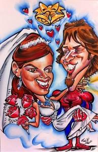 Spider Man Wedding, Man in Spider Man Costume Holding Bride