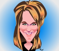 caricature drawing from photo for parties