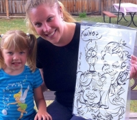 Cute Caricature Drawing by Mark Hall Denver CO