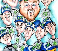 Sports Teams Caricatures by Mark Hall