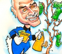 Money Tree Caricature Drawn in Denver CO