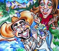 Unique proposal caricatures from artist Mark Hall