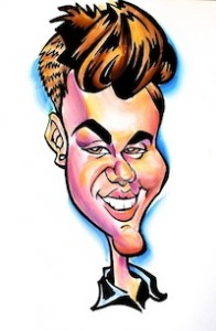 Justin Bieber Caricature