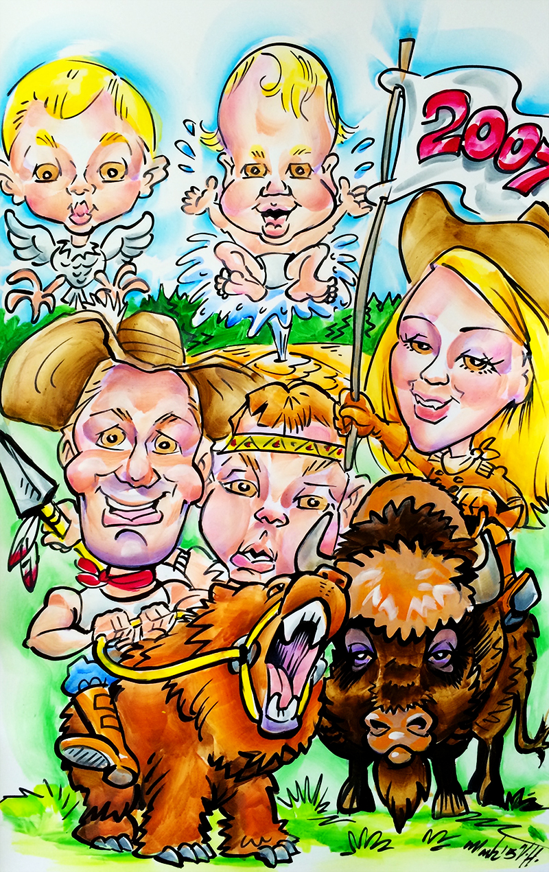 Caricature Artist for Family Portraits