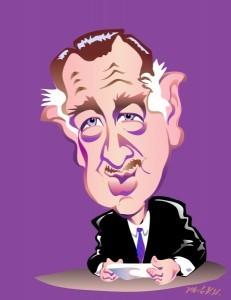 Walter Cronkite Caricature