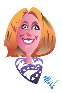 Caricature of Blonde Woman