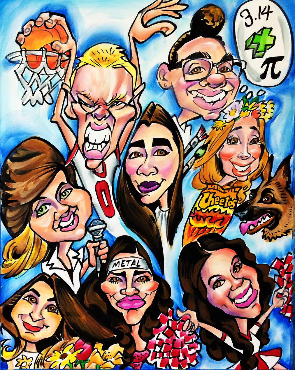 Team Caricatures
