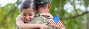 veteran dealing with PTSD carrying daughter