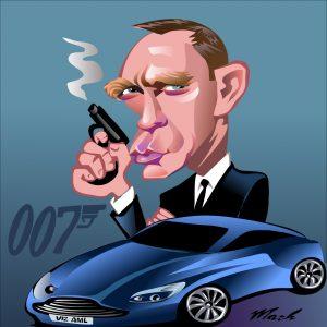 Daniel Craig Caricature 007